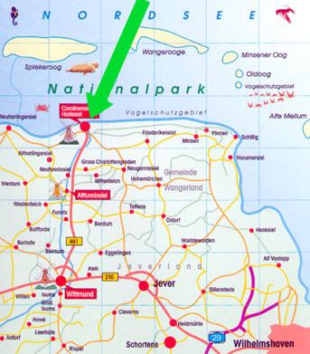 carolinensiel karte Nordsee Carolinensiel Karte   hanzeontwerpfabriek